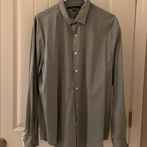 Perry Ellis non iron men's green shirt LS XL